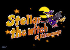 紙芝居Stellar the witch at Halloween night